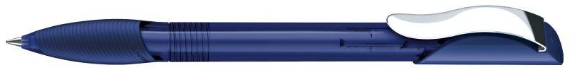 Senator Hattrix Clear Softgriff Metallclip dunkelblau