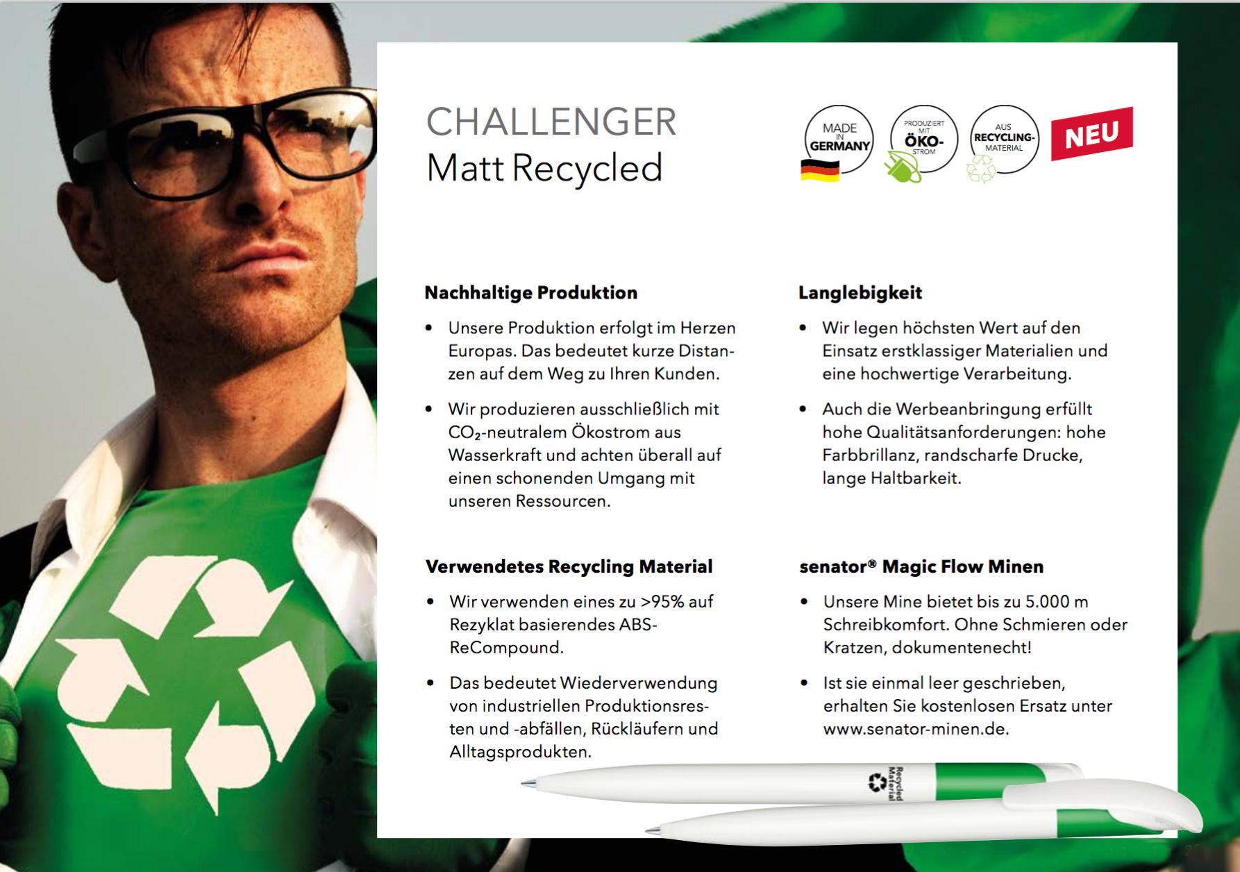 Senator Kugelschreiber Evoxx Polished Recycled